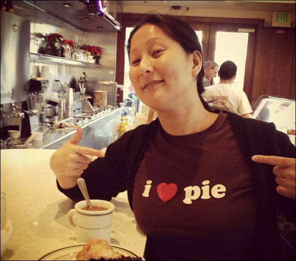 Maggie Lee loves Pie